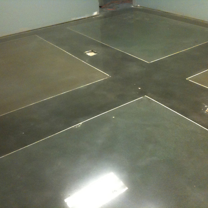 mechanically polished concrete color