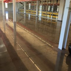 Micro Matic mechanically polished concrete floors by Concrete Polishing, Inc. in new office expansion.