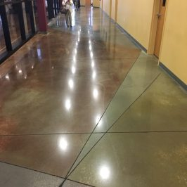 Better Than New – 3 year old mechanically polished concrete shines!