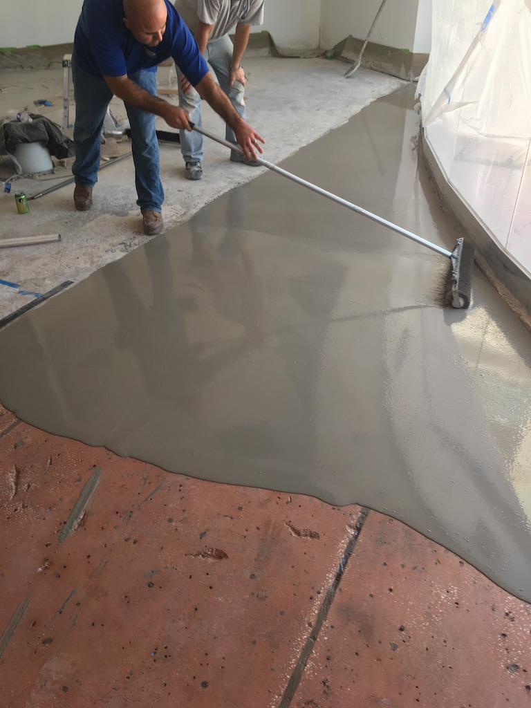 repairing polished concrete floors